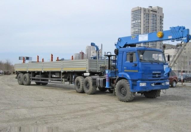 Манипулятор длинномер КАМАЗ 20 тонн, кран 7 тонн