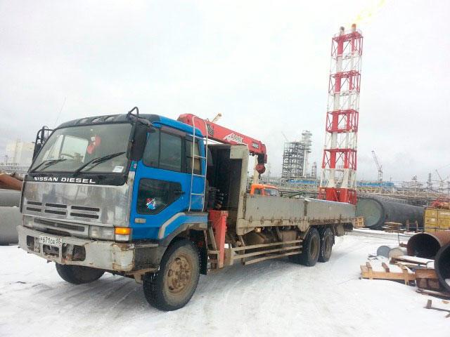 Манипулятор NISSAN DIESEL 10 тонн кран 4.5 тонны