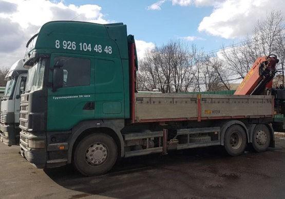 Манипулятор Scania борт 10 тонн, КМУ 8 тонн