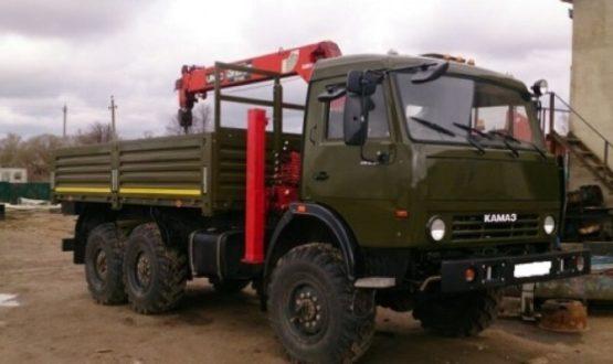 Манипулятор вездеход КАМАЗ 10 тонн