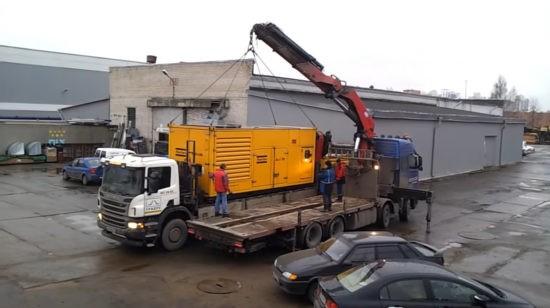 Перевозка промышленных генераторов