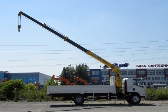 Манипулятор Isuzu Elf 5 тонн кран 5 тонн