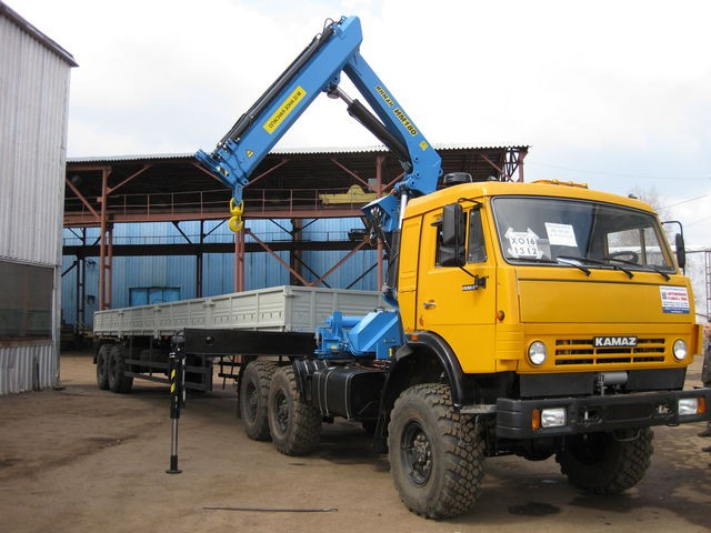 Манипулятор КАМАЗ КМУ 7 тонн (полуприцеп)