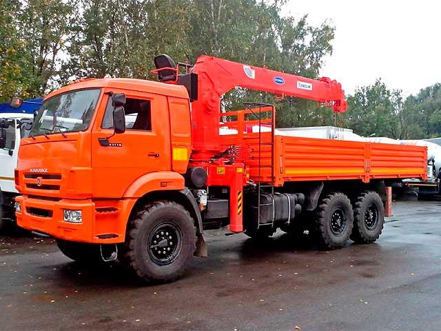 Манипулятор КАМАЗ КМУ 7 тонн (вездеход)
