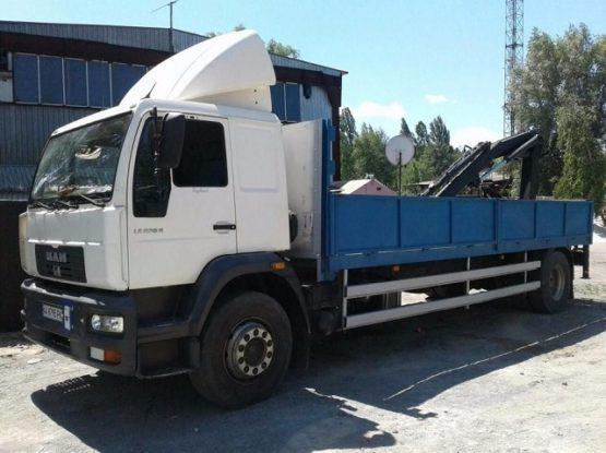 Манипулятор MAN 10 тонн, кран 6 тонн