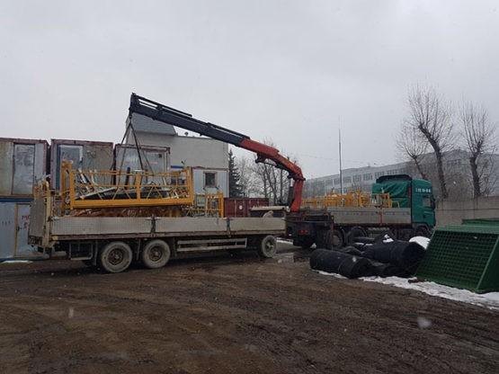 Аренда Манипулятора Scania 20 тонн с прицепом в Москве