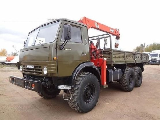 Манипулятор вездеход КАМАЗ 10 тонн кран 3 тонны