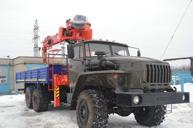 Манипулятор ВЕЗДЕХОД УРАЛ 10 тонн кран ИМ-150 7 тонн